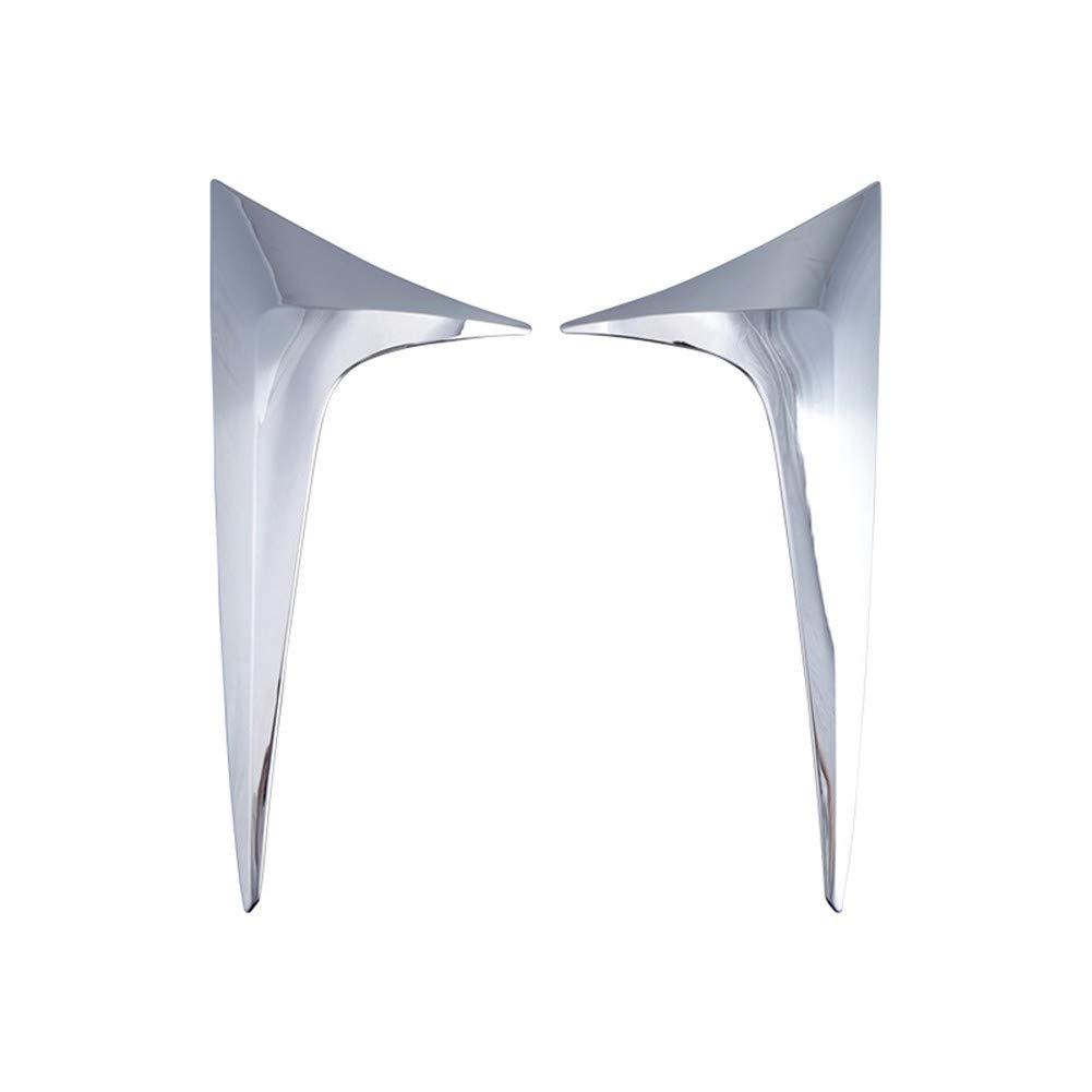 Yueng Garniture dé corative de fenê tre Triangulaire arriè re de Chrome d'argent d'ABS pour la Voiture 2-Pack