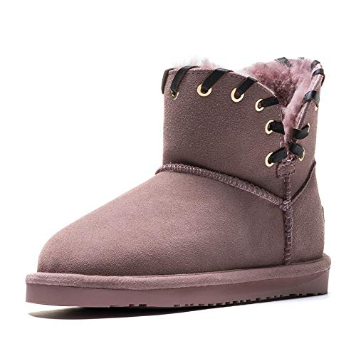 CCE Shearling Boots for Women, 2018 Winter Warm Fur Liners Basic Ankle Boots Snow Boots ()