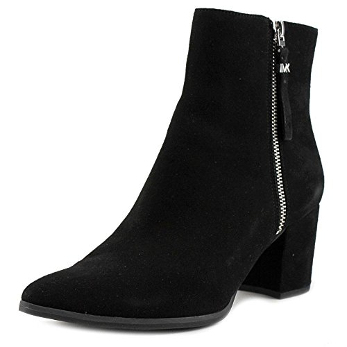MICHAEL Michael Kors Women's Dawson Mid Bootie Black Kid Suede Boot 10 - Kors Michael Children's Boots