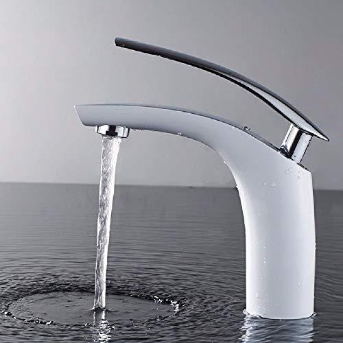 Haiyuguagao Basin Mixer Tap Bathroom Sink Faucet Euro style toilet white basin SINGLE HOLE faucet sink faucet tool (Color : A)