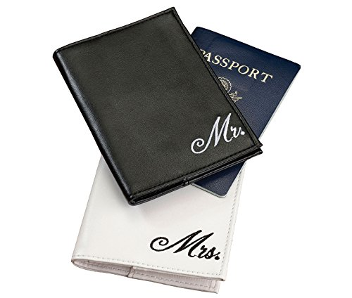 Lillian Rose Mr. and Mrs. Matching Couple Passport Covers by Lillian Rose