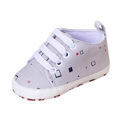 FEITONG Newborn Infant Baby Cartoon Checkered Non-slip Girls Boys Soft Prewalker Casual Flats Shoes