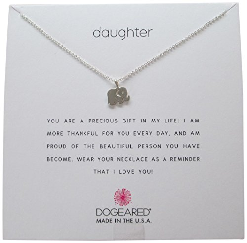 Necklace Wish A Make Dogeared (Dogeared Daughter Sterling Silver Elephant Reminder 16