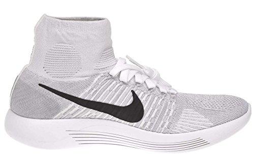Pltnm Grey pr wolf Nike Bianco Running Scarpe white Uomo Black Flyknit blanco Lunarepic T7pgqv