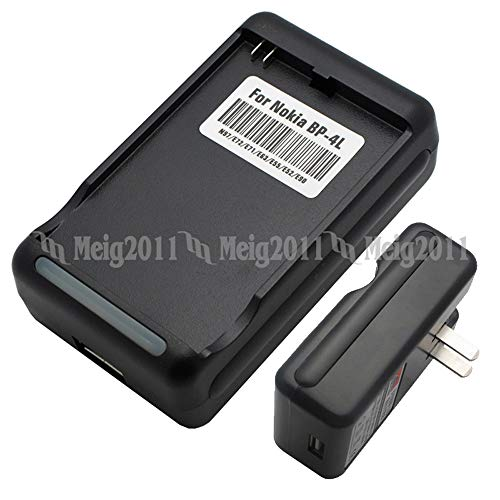 Battery Charger for Nokia BP-4L, BP-4C, N97, E52, E55, E61i, E63, E71, E71x, E72, E73 Mode, E6-00, E90, E90i, 6650 Fold, 6760 Slide, 6790 Surge, N810 Internet Tablet, N810 WiMAX Edition (Nokia N97 Charger)