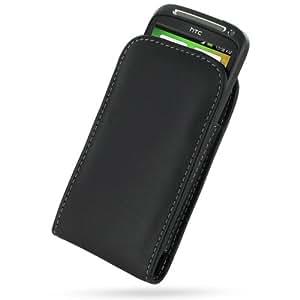 Estuche/funda cuero HTC Desire S - Marca Pdair vertical pocket- negro