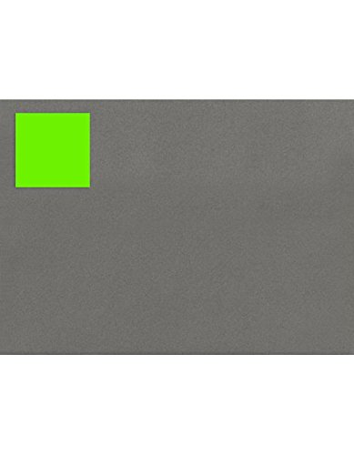 1.5 x 1.5 Square Labels, 35 Per Sheet - Fluorescent Green (250 Qty.) by Envelopes.com