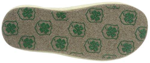 Adelheid Women's Unschuldslamm Filzpantoffeln Open Back Slippers Brown (Taupe 366) N9VbwRy