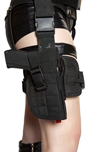 Sexy Cop Girl Gun Thigh Holster With Belt Halloween (Thigh Gun Holster Costumes)
