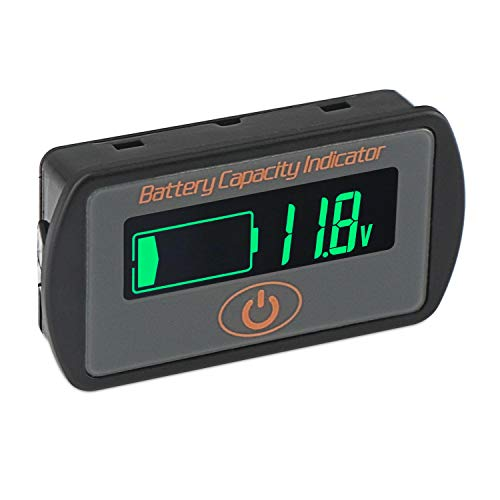 DROK DC 5-66V LCD Battery Capacity Indicator Meter