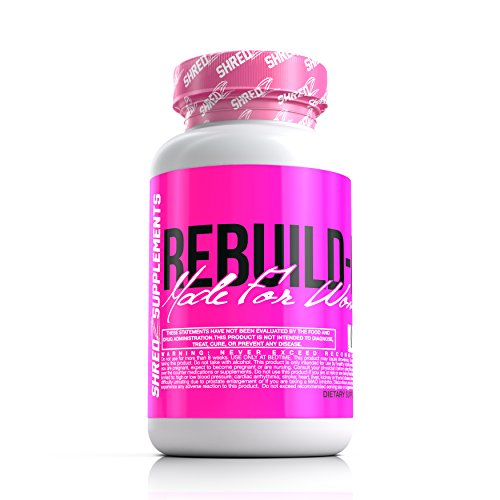 SHREDZ Rebuild-PM Made for Women, 60 Vegetarian Capsules, 30 Day Supply - Muscle Recovery While You Sleep, Sleep Aid, Rejuvenate, REM Sleep