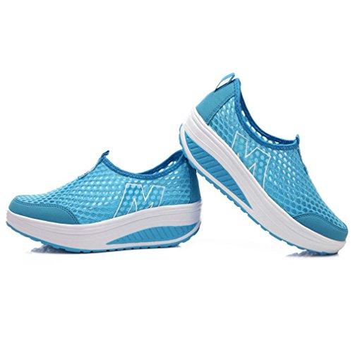 Azul Solshine azul de Lona mujer Zapatillas para vvPzx