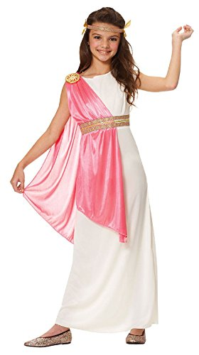 Sailor Dance Recital Costumes (OvedcRay Roman Empress Athena Greek Goddess Toga Child Kids Girls Costume White Pink)