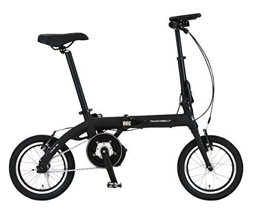 [해외] trance모바이리(TRANS MOBILLY) 보험 부착 접이식 전동 어시스트 자전거 LED라이트부 마그넷 탈착식 배터리 채용 14인치 ULTRA LIGHT E-BIKE AL-FDB140E 알루미늄 프레임 92201