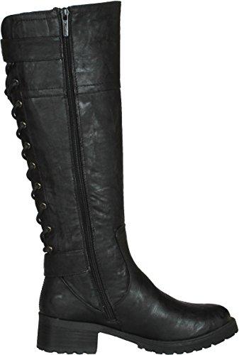 Wanted Shoes Women's Ballard Knee-High Boot - stylishcombatboots.com