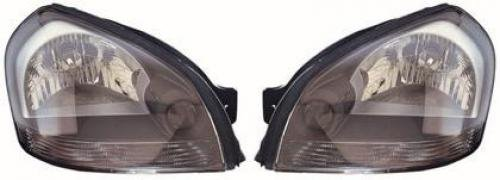 Go-Parts PAIR/SET OE Replacement for 2005-2009 Hyundai Tucson Front Headlights Headlamps Assemblies Front Housing/Lens / Cover - Left & Right (Driver & Passenger) for Hyundai Tucson