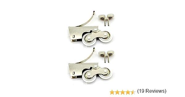 YUANQIAN Kit de polea deslizante de acero inoxidable para puerta de armario, polea de aleación de titanio, barra de luz, puerta corredera, doble rueda: Amazon.es: Bricolaje y herramientas