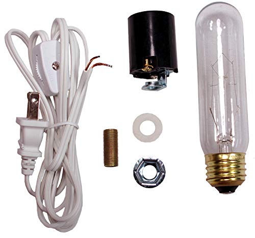 Creative Hobbies ML1-B6 Large Christmas Tree Wiring Kit, 40 watt Bulb, Standard (Edison) Base, Great for Lighting Large Size Objects (Star Part Replacement Tree Christmas Ceramic)