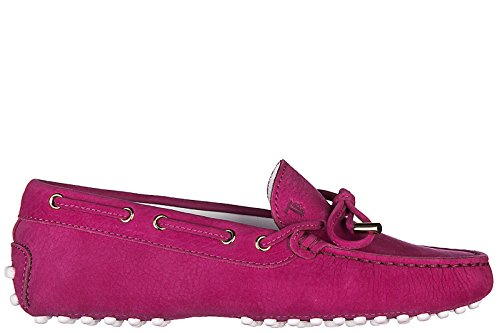 Tod's Girls Shoes Child Loafers Moccassins Leather laccetto occhielli Junior Fucsia US Size 1 UXCG05030GRKR403 by Tod's