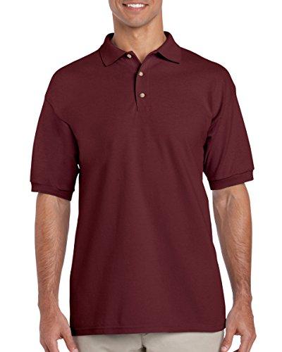 Gildan mens Ultra Cotton 6.5 oz. Pique Polo(G380)-MAROON-XL