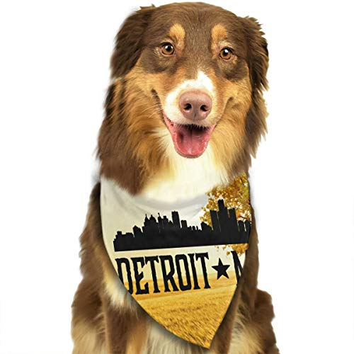 - HJKH PJKL Detroit Michigan Pet Dog Puppy Cat Triangle Bibs Scarf Bandana Collar Neckerchief Mchoice - Any Pets