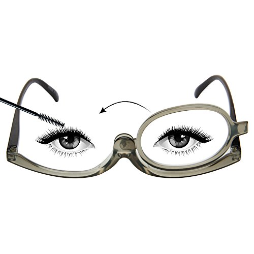 LianSan Readers Magnifying Makeup Glasses Flip Down Lens Folding Cosmetic Womens Make Up Reading Glasses - With Glasses Lenses Magnifying