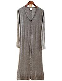 Womens Button Shawl Kimono Long Maxi Cardigan Coat Tops Jacket Blouse