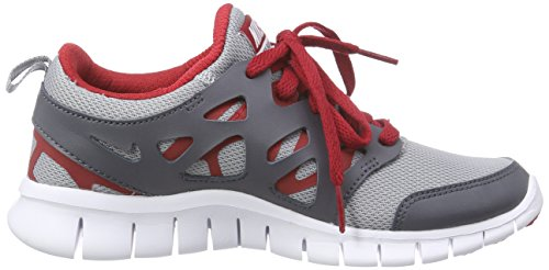 Nike Free Run 2 (Grade-school) - Zapatillas Niñas Gris (wolf grey/white-gym rd-drk gry)