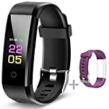 Fitness Trackers Waterproof - Fitness Watch with Heart Rate Blood Pressure Monitor, Activity