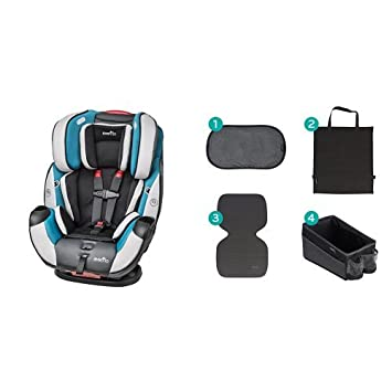 Evenflo Symphony Dlx All In One Convertible Car Seat Modesto With Car Seat Accessory Kit