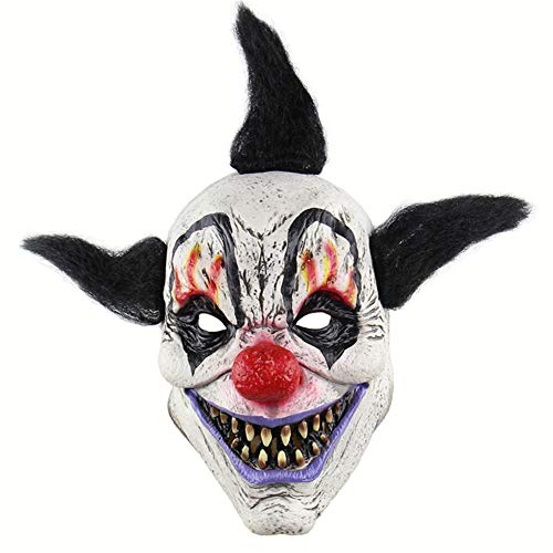 TTXST Halloween Mask Latex Mask Horror Sorcerer Clown Mask Haunted House Room Escape Dress Up Costume Fancy Dress Party Props Supplies]()