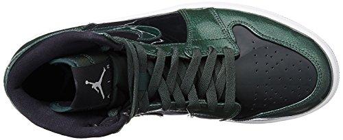 Jordan Nike Herren Air 1 Retro High Basketball Schuh Grove Grün / Schwarz / Weiß
