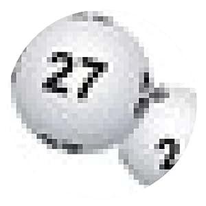 alfombrilla de ratón Banner bolas de lotería para el viernes trece - ronda - 20cm
