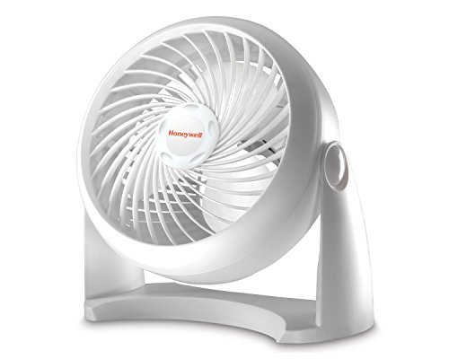 """Honeywell HT904C Turbo Force® 7"""" Power Air Circulator, White, with 90 Degree Head Pivot, Eco-Friendly, and Easy to Use Fan"""
