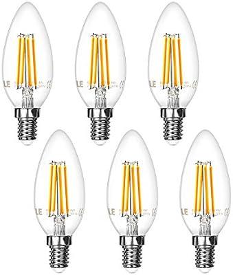 LE Bombillas LED, E14 4W Equivalente 40W, 400lm, Blanco cálido ...