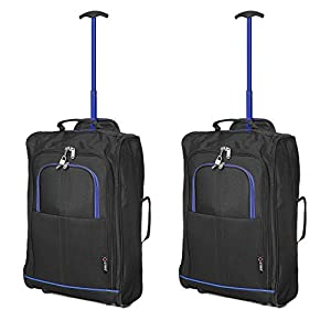 Set of 2 Super Lightweight Cabin Approved Luggage Travel Wheely ...