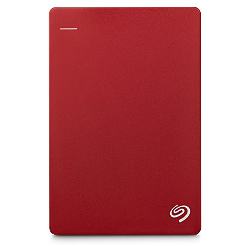 Seagate 2TB Backup Plus Slim (Red) USB 3.0 External Hard Drive for PC/Mac with 2 Months Free Adobe...