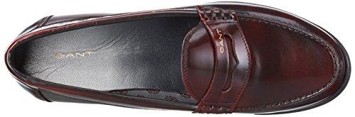 Gant Grace, Mocasines para Mujer Rojo - Rot (Purple Fig G503)