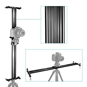Neewer 32 inches/80 centimeters Aluminum Alloy Camera Track Slider Video Stabilizer Rail for DSLR Camera DV Video Camcorder Film Photography, Load up to 11 pounds/5 kilograms