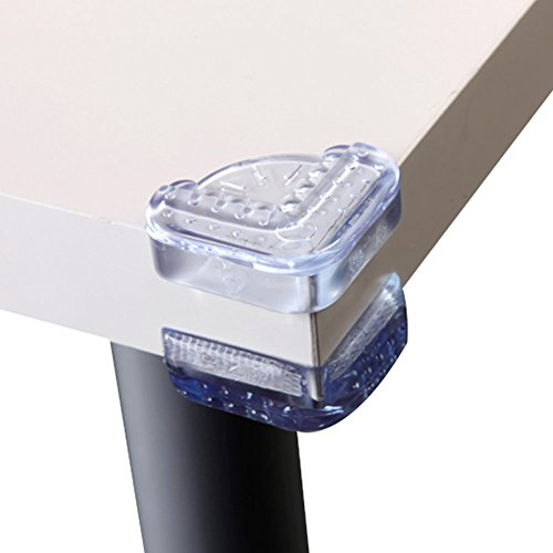 Price comparison product image Baby Mate 12 PCS MEDICAL GRADE Artistic Child Proof Table Corner Protector (Clear,  Flat) - Baby Proofing Corner Guards - Baby Safety Furniture Bumpers - Desk Corner Cushion - Mothers Day Gifts From