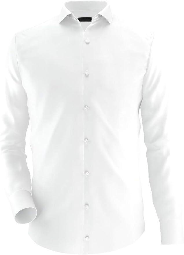Noldemann - Camisa de Vestir de Alto Rendimiento Blanca ...