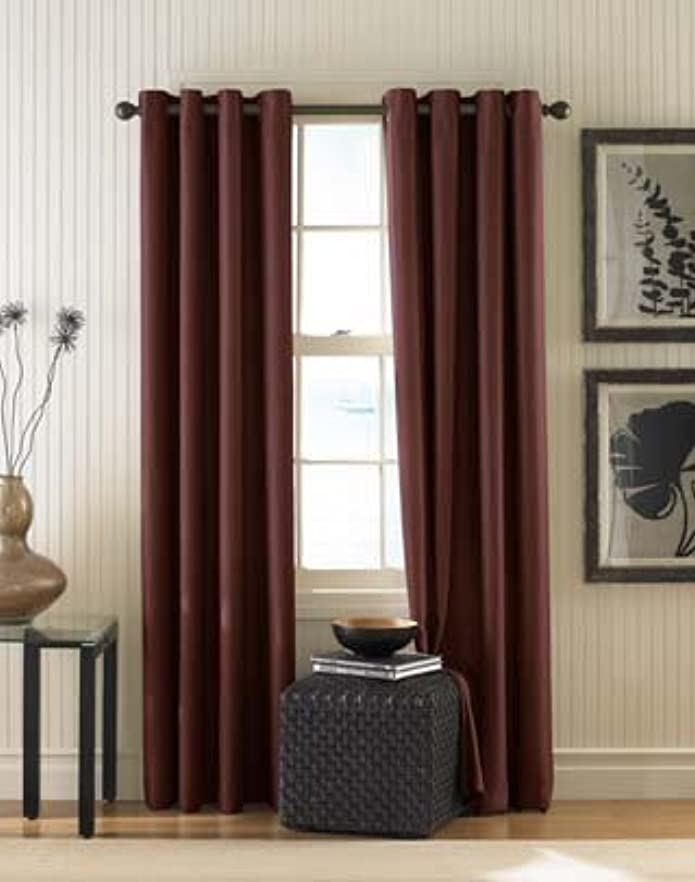 """120""""x52"""" Monterey Lined Curtain Panel Maroon - Curtainworks"""