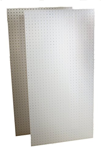 (Triton Products DB-2 Two DuraBoard White Polypropylene Pegboards 24-Inch W by 48-Inch H by 1/4-Inch D with 9/32-Inch Hole Size and 1-Inch O,C, Hole Spacing (Renewed))