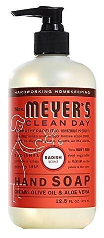 Mrs Meyers Hand Soap Radish 12.5 Ounce Pump (370ml) (3 Pack) (Meyers Hand Soap Radish)