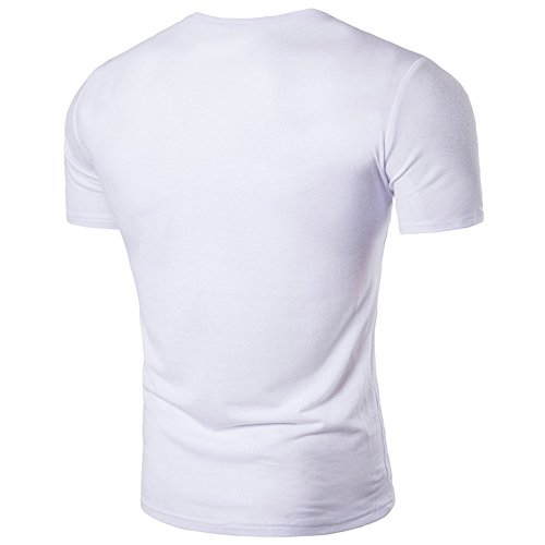 Tank Tops for Men, MISYYA Button Solid Muscle T Shirt Breathable Sweatshirt Gym Sport Tee Masculinity Gifts Mens Tops White by MISYAA (Image #1)