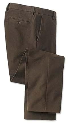 Orvis Moleskin Pants / Plain, Dark Brown, 30W X 34 1/2 L