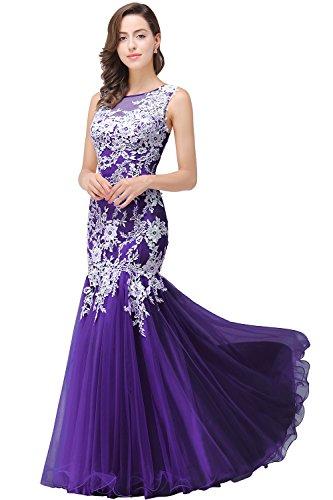 Sexy Teen Masquerade Dress See Through Long Homecoming Gown,Purple,Size 10 (Purple Masquerade Dresses)