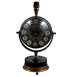 RoyaltyRoute Good Friday Deals!! Antique Retro Vintage Round Metal Table Desk Clock, 7.5 Inches
