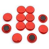 First4magnets F4M30-RED Paquet de 12 Aimants de panneau d'affichage/planification Taille Medium ⌀ 30 x 8 mm Rouge