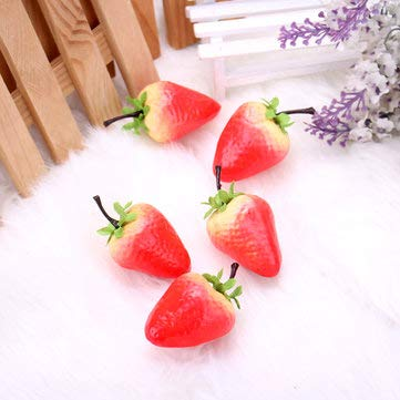 Artificial Strawberry Model False Fruit Props Learning Props Home Kitchen Decor - Decorative Crafts Simulation Decorative Props - 10 x Artificial Strawberry Mould -